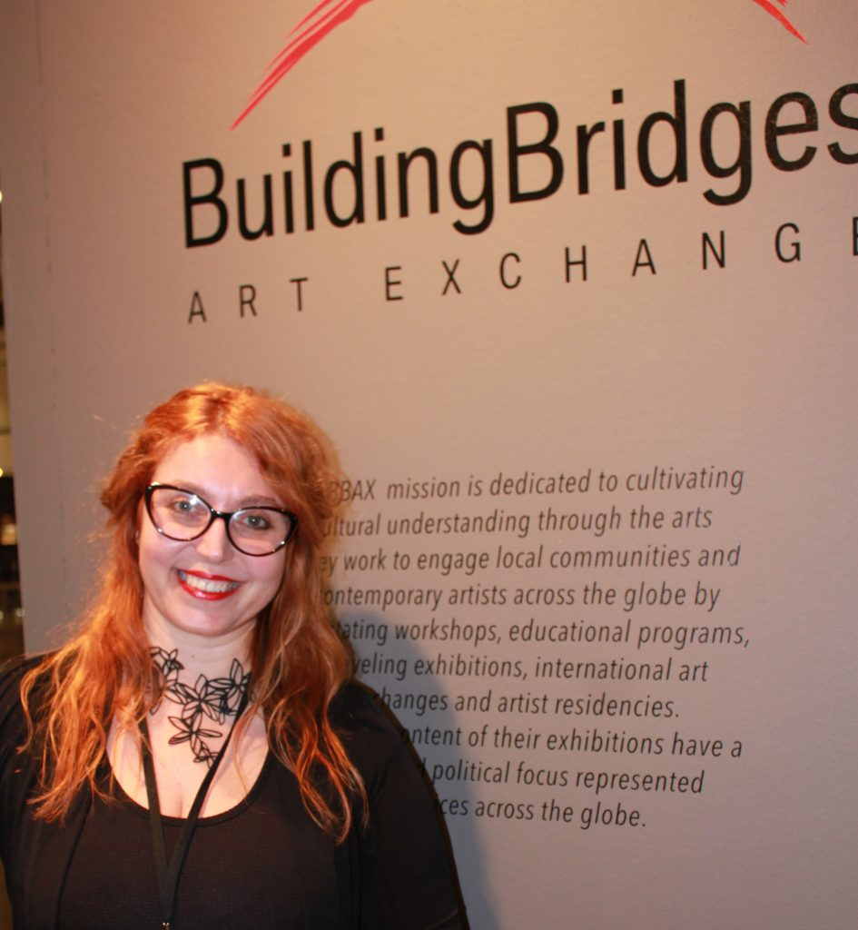 Building Bridges Curator Marisa Caichiolo. Photo credit: DemiGoddessChronicle.com