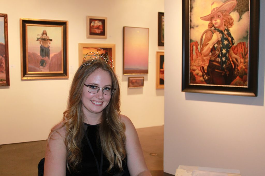 Maxwell Alexander Gallery sales rep Karisa Callahan. Photo credit: DemiGoddessChronicle.com