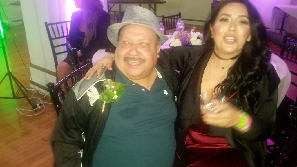 Entertainer Chuy Bravo and friend. Photo by: DemiGoddessChronicle.com