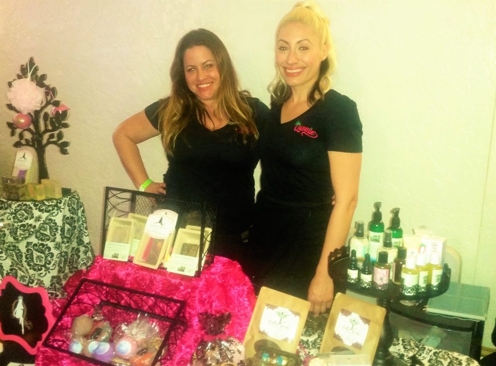 Founder of Queenie Vanessa Colonna with assistant Melissa. Photo by: DemiGoddessChronicle.com