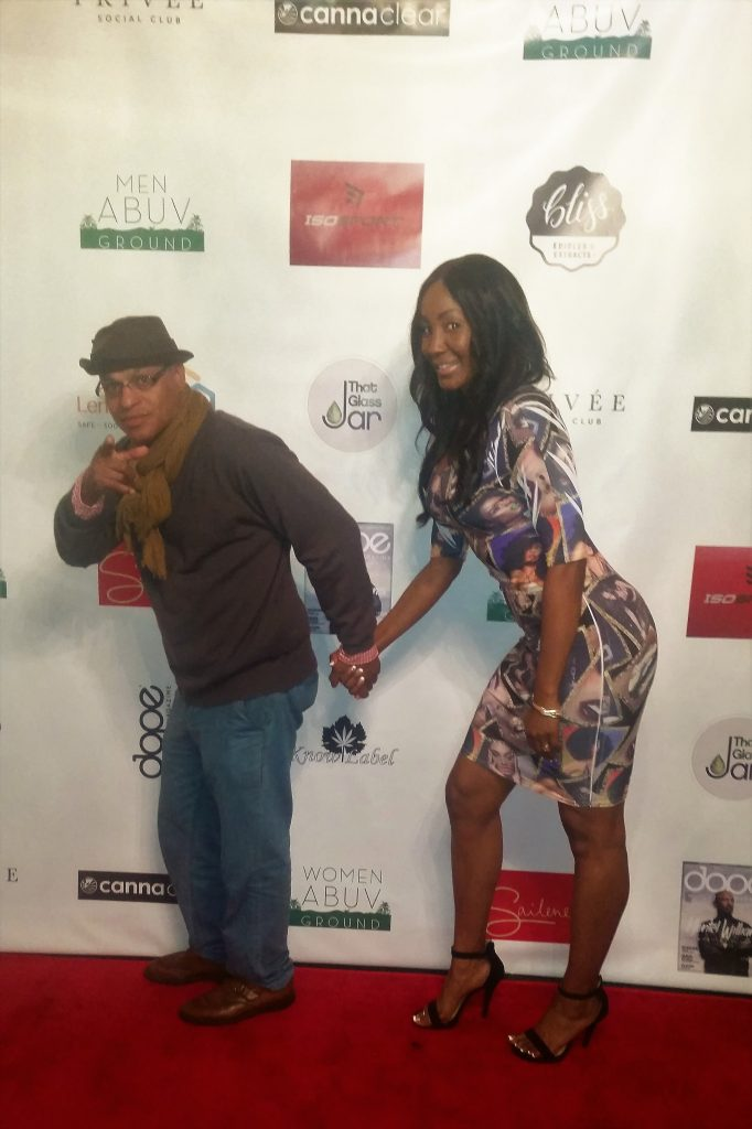 Celebrity photographer Clinton H. Wallace & actress Tanjareen Martin Thomas. Photo by: DemiGoddessChronicle.com