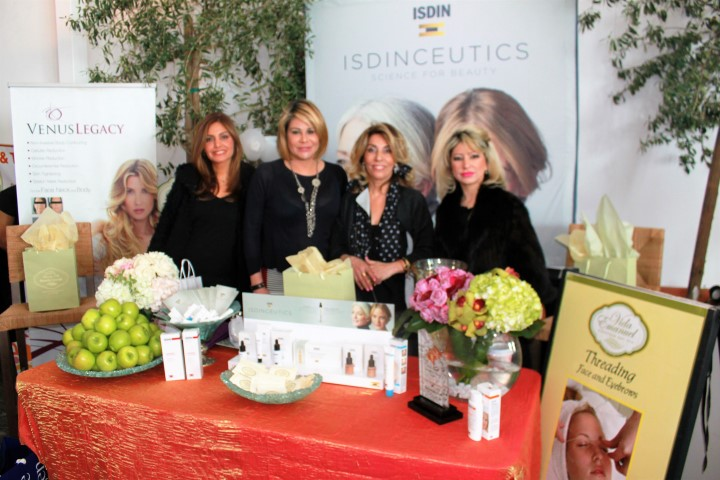 European Day Spa owner Vida Emanuel (third from left) with (left to right) estheticians Asha Ghandi, Joy Dian and Kristina Egiyan. Photo credit: DemiGoddessChronicle.com