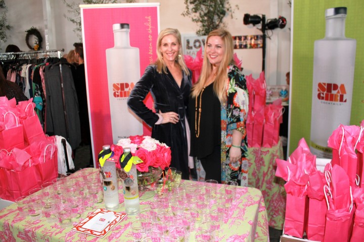 Spa Girl Cocktails Founder Karen Haines (left) with rep Alexandra de Peyster. Photo credit: DemiGoddessChronicle.com