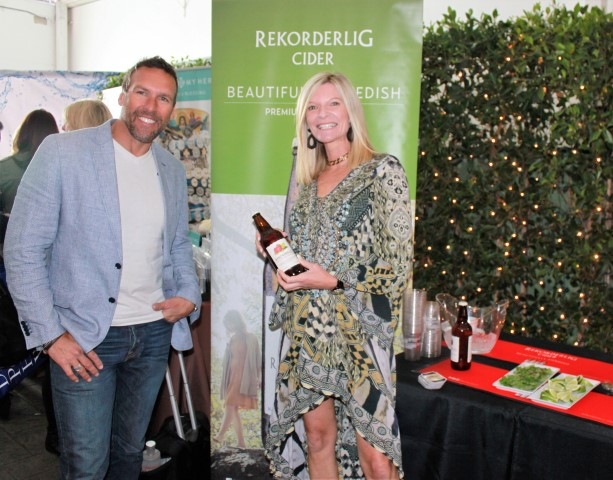 Rekorderlig Cider reps Roland Topf and Amanda Mifsud. Photo credit: DemiGoddessChronicle.com