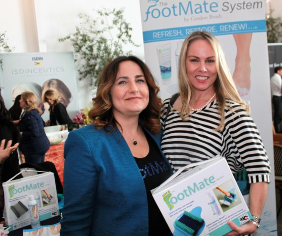Filmmaker Christy Oldham with Footmate System rep. Photo by Clinton H. Wallace/DemiGoddessChronicle.com