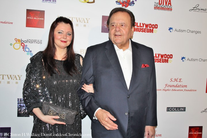 Paul Sorvino and guest. Photo credit: Clinton H. Wallace/DemiGoddessChronicle.com