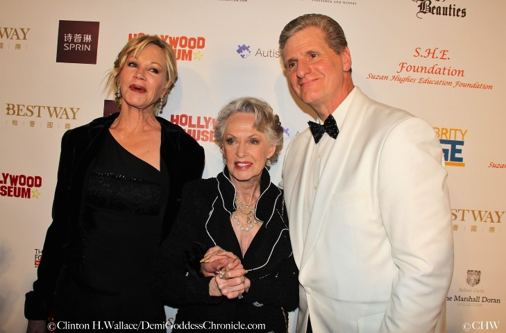 Melanie Griffith with legendary actress Tippi Hedren and Roger Neal. Photo credit: ClintonH.Wallace/DemiGoddessChronicle.com