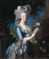 Portrait of Marie Antoinette by Elisabeth Louise Vigee Le Brun.