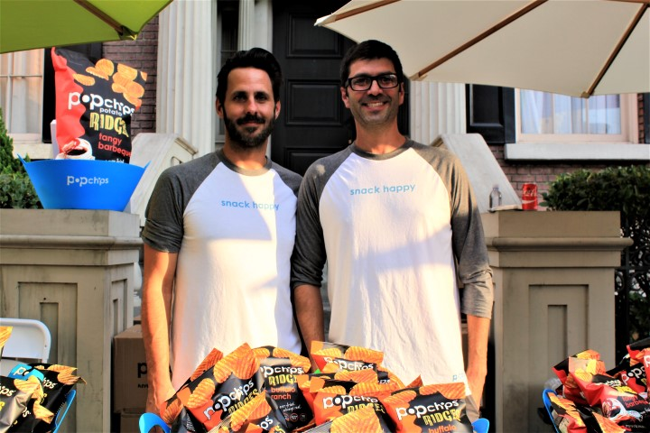 Jeremy Greene (R) and Mike Filanowski of PopChips. Photo credit: DemiGoddessChronicle.com