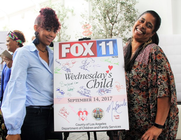 Fox 11 Reps from Wednesday's Child. Photo by DemiGoddessChronicle.com