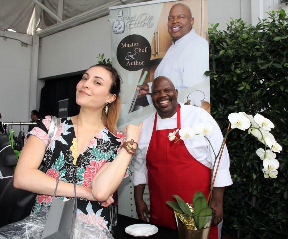 Morgane Enselme enjoyed Chef Elliott's delicious Red Velvet Bourbon Bundt Cakes & Signature Spices.