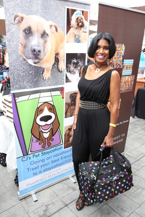 "VIP Sponsor Pampered Pets Playhouse Resort & Spa with Denise Boutte from Tyler Perry's ""Meet The Browns"". Photo courtesy of BergmanPR"