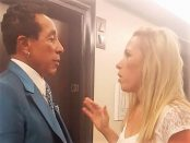 "Holly Davidson working with William ""Smokey"" Robinson Jr."
