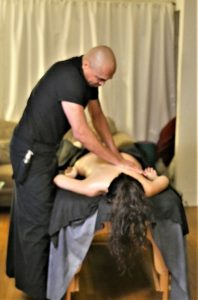 Massuer Fred uses ancient healing methods for his clients. Photo courtesy of BlasickPR for demigoddesschronicle.com