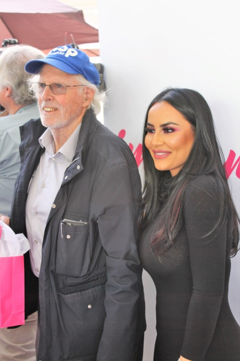Academy Award winning Actor Bruce Dern and Impromptu Owner Leyna M. Topete. Photo Credit: DGC