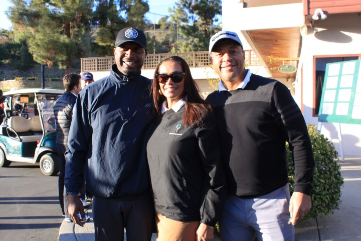 R.A.K.E. founder Ricky Smith, Model Kathleen Bradley-Redd and ESPN anchor Stan Verrett. Photo Credit: DGC