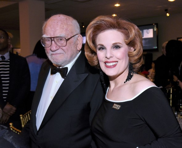Ed Asner and producer Kat Kramer. Photo credit: William Kidston Photography