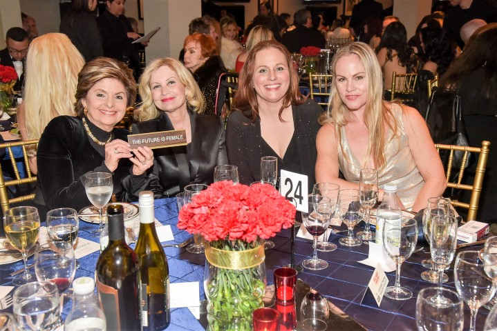 The Future Is Female Table: (LtoR Gloria Allred, Katherine Fugate, Leigh Goodoff and Christy Oldham. Photo credit: William Kidston