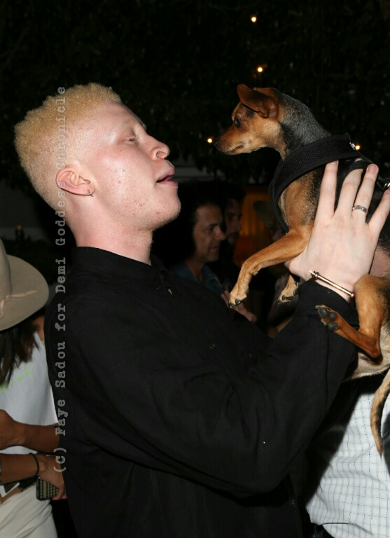 Model Shaun Ross with 'Honey'. Photo Credit: Faye Sadou/DemiGoddess Chronicle
