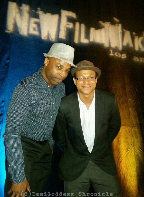 Paramount Pictures Abdullah Hall and Indie Film Producer Clinton H. Wallace. Photo Credit: DemiGoddess Chronicle