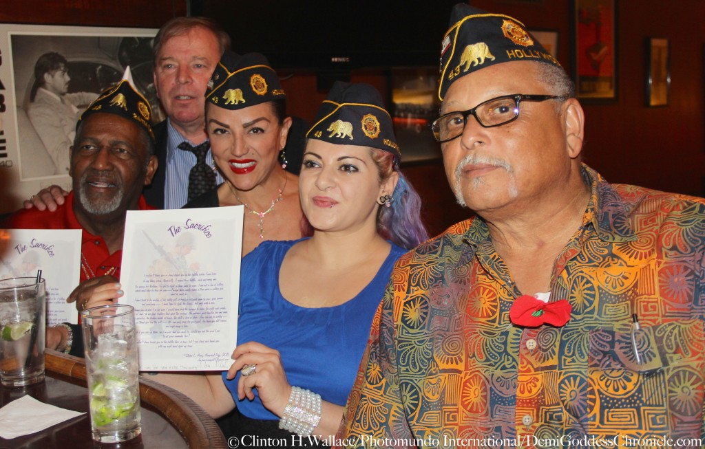 """Jeanette St. John & Danielle Elizabeth Baker attend """"Return to the Philippines: The Leon Cooper Story"""" Veterans Day 2015 Celebration at American Legion Post 43, Hollywood, CA ©Clinton H.Wallace/Photomundo International/DemiGoddessChronicle.com"""