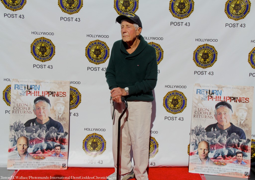 """Leon Cooper attend the Veterans Day 2015 Screening of """"Return to the Philippines, The Leon Cooper story"""" a documentary chronicling his efforts to bring home WWII American MIAs from the Philippines"""