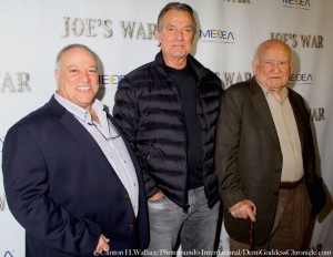 Director Phil Falcone, Young & The Restless Actor Eric Braeden and Ed Asner. Photo Credit: Clinton H Wallace/DemiGoddess Chronicle