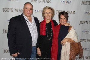 Director Phil Falcone and his wife with Cloris Leachman. Photo Credit: Clinton H Wallace/DemiGoddess Chronicle