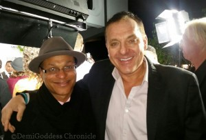 Clinton H. Wallace and Tom Sizemore. Photo Credit: DemiGoddess Chronicle