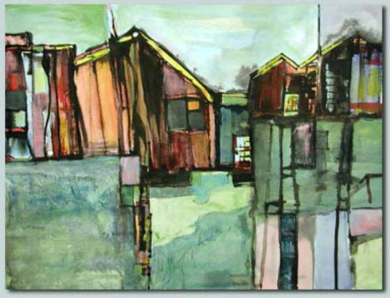 Bodie View V by artist and WPW member Susan Gesundheit. Acrylic on Paper. Photo courtesy of WPW.