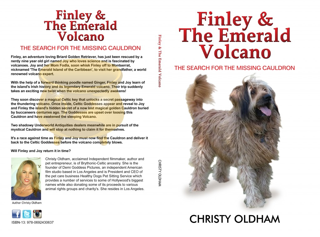 Finley & The Emerald Volcano Literary Work by Christy Oldham.