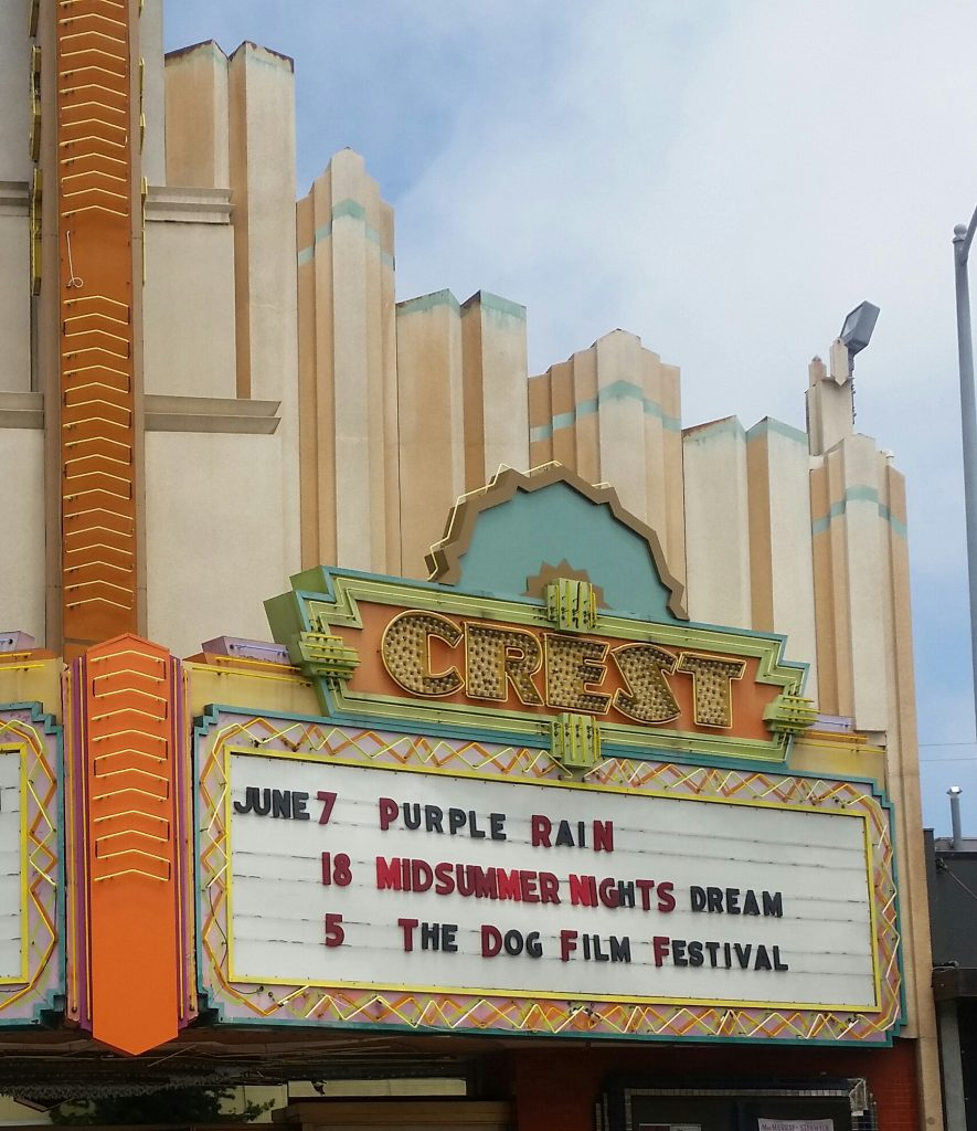 The Dog Film Festival on the marquee of The Crest Theatre in Westwood. Photo credit: DemiGoddessChronicle.com