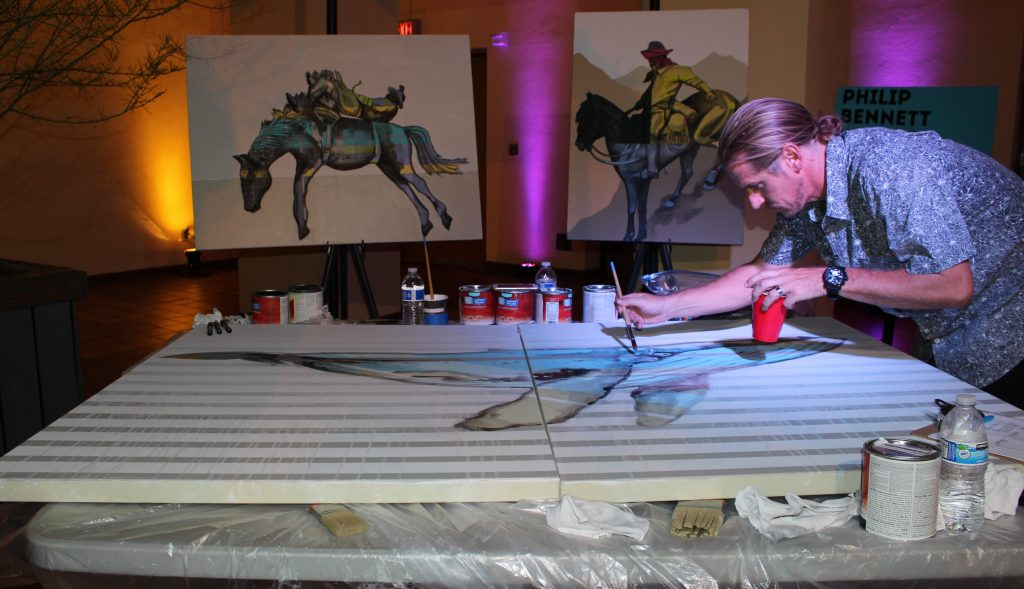 Live painting. Photo credit: Anjanae Blackburn/DemiGoddessChronicle.com