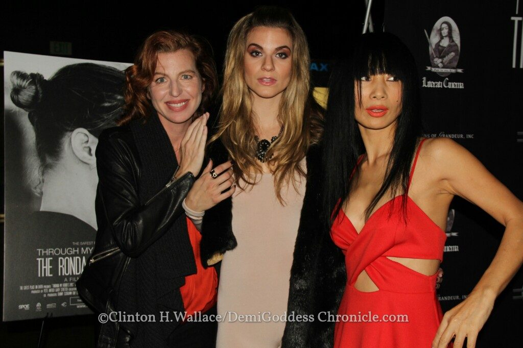 Actress Tanna Frederick, Actress Rachel McCord and Actress Bai Ling. Photo credit: Clinton H. Wallace/DemiGoddessChronicle.com