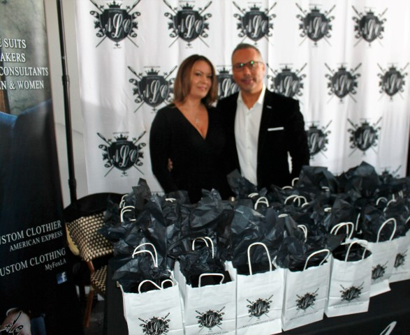 Custom Clothiers, Bespoke owners Art and Jamie Lewin. Photo credit: DemiGoddessChronicle.com