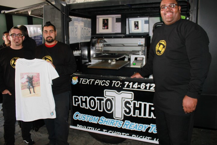 Photo T-Shirts representatives with their party truck. Photo credit: DemiGoddessChronicle.com