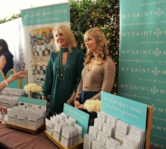 My Saint My Hero sales Ambassador Marisa Marshall (left) with assistant. Photo by: ClintonH.Wallace/DemiGoddessChronicle.com