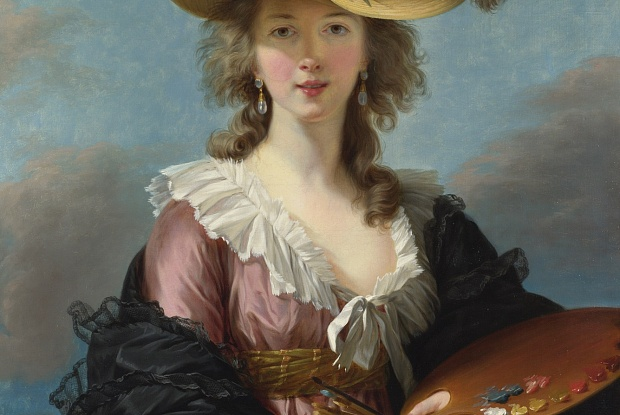 Self portrait of Vigee Le Brun in a Straw Hat. Photo Credit: National Gallery, London.