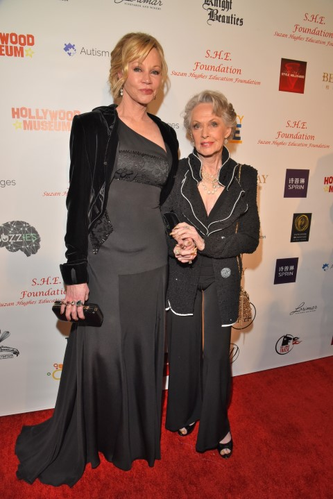 Melanie Griffith with mother Tippi Hedron. Photo Credit: William Kidston