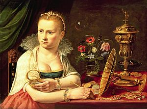 Clara Peeters Self Portrait.