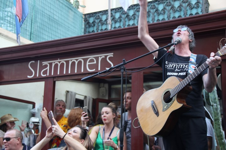 Singer Mike Dobie performs live at Slammers Pub