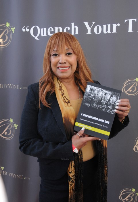 Title Sponsor BUYWINE.COM with Multiple Grammy Award-Winning Artist, ANITA POINTER. Photo courtesy Doris BergmanPR
