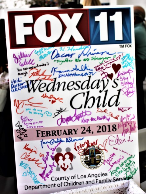 The signatures of the celebrities in attendance to benefit Wednesday's Child. Photo Credit: DGC