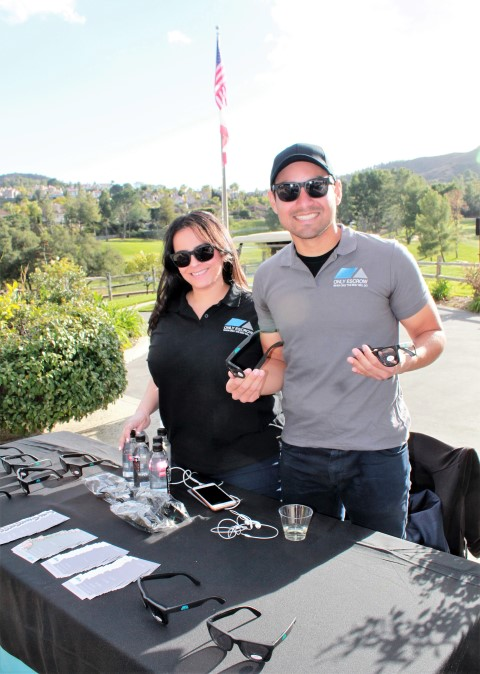 Only-Escrow reps Marlen Videz and Franco Navac supplied the sunglasses...Photo Credit: DGC