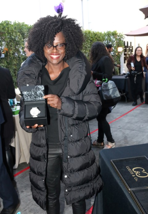 Presenting Sponsor CURTIS & Co. with Oscar Winner VIOLA DAVIS. Photo courtesy of Doris Bergman PR